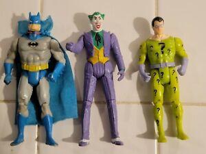 """Vintage Kenner DC Super Powers Batman Riddler Joker 4"""" Action Figure  see note"""