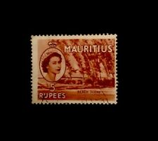 Mauritius QE2 1954 5R Red- Brown SG 305 Fine Used