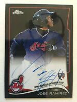JOSE RAMIREZ Auto RC - 2014 Topps Chrome BLACK REFRACTOR /25 - READ DESCRIPTION!