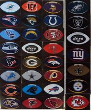"NFL Football Shaped Stickers (4"" x 2.5"") NEW - 25 Teams to Choose From"