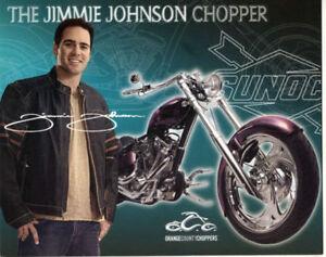2007 Jimmie Johnson Sunoco Orange County Choppers NASCAR postcard