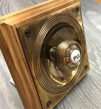 CLAVERLEY ANTIQUE BRASS PERIOD DOORBELL PULL (ATC)