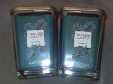 2x Yankee Candle Frosted Fir Large Square Jar 19.5oz NEW Green Elevation 2 Wick