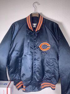 80's Vintage Chalk Line Chicago Bears Satin Bomber Jacket Mens Size L