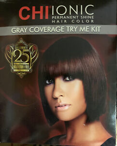 CHI Ionic Permanent Shine Hair Color Gray Coverage Try Me Kit