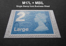 Nouveau sept 2017 2nd Grand M17L + mbil Machin single stamp from Business Feuille