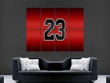 MICHAEL JORDAN 23 BASKETBALL NBA LEGEND BULLS  ART PICTURE PRINT LARGE HUGE