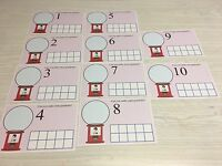 Gumball Count - Dry Erase - Laminated Activity Set - Teaching Supply Ten-frames