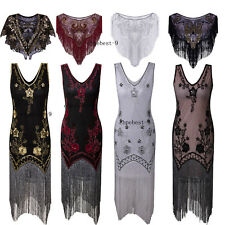 1920s Flapper Dresses Vintage Tassels Party Cocktail Dress 20s Prom Evening Gown