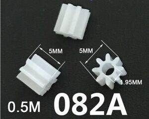 Pignone Ingranaggio Puleggia in plastica 8 denti - 3 Pezzi
