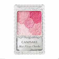 JAPAN ☀CANMAKE☀ 02 Matte Girly Rose Matt Fleur Cheeks Blush Powder with Brush