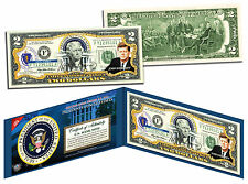 JOHN F KENNEDY * President 1961-1963 * Colorized $2 Bill US Genuine Legal Tender