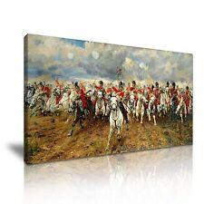 Batalla De Waterloo Lady Butler tela pared arte 60x30cm