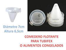 ALIMENTADOR FLOTANTE TUBIFEX COMEDERO Congelado Larva Mosquito Peces ACUARIO