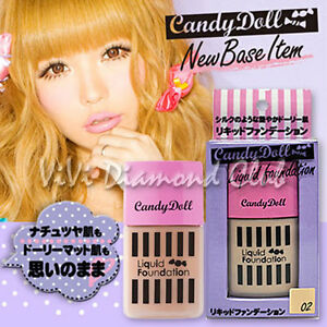 JAPAN Candy Doll Liquid Foundation Color 02 30g NEW