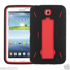 Samsung Galaxy Tab 3 7.0 P3200 Hybrid Armor Case w/Kickstand Black/Red