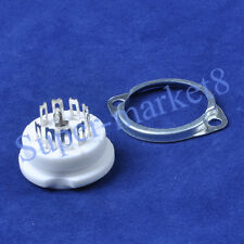 16pcs Ceramic Tube Socket 9Pin B9A Chassis 12AX7 12AU7 ECC83 6922 6N11 6AQ8