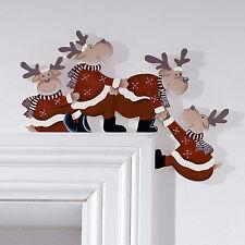 Türrahmendeko Elche Holz Weihnachtsdekoration Türdeko für Weihnachten Elch