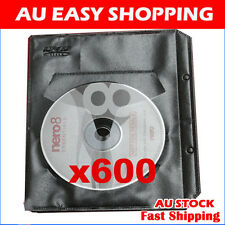 600 Black CD DVD sleeves For dvd + Movie cover Storage High quality ebox Brand