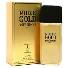 PURE GOLD POUR HOMME-EDT-3.4 OZ-FOR MEN-VERSION OF 1 MILLION BY PACO RABANNE
