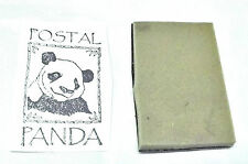 Asian Postal Panda bear Rubber stamp unmounted Envelope art Mixed media stamping
