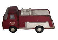 """Vintage 1970-1973 Tonka Red Metal and Plastic Fire Truck Toy Collectible 5.5"""" L"""