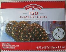 Holiday Time 6x4' Net Lights 150 Incandescent Mini Clear Green Wire Damaged Box