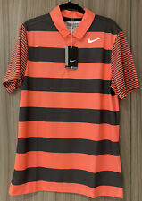 Nike Golf Shirt Coral Pink / Dk Grey Bold Stripe Brand New With Tags Size Small