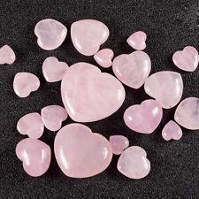 New Natural Quartz Heart Shaped Stone Crystal Pink Love Healing Gemstone Decor