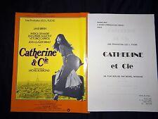p dewaere CATHERINE ET CIE jane birkin scenario dossier presse cinema  1975