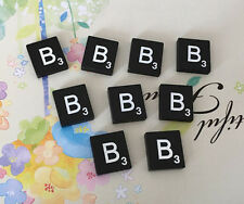10 (TEN) Letter B, Black  Scrabble Tiles Letters, Individual, A to Z in Stock!