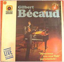 Gilbert Becaud, Monsieur 100000 Volt , G/VG,  LP (5885)