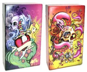 Eclipse Tattoo Designs Plastic Crushproof Cigarette Case, 2ct, 100s, 3117TATN