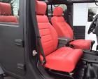 New 2011 2012 Jeep Wrangler Jk Custom Red Leather Seat Covers Upgrade 4-door