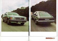 Opel Monza 3.0E 1978-80 UK Market Sales Brochure