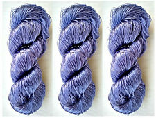 New Knit Multi Sari Fabric Silk 3 PLY Skeins Yarn Lace Crochet 345g Woven Thread