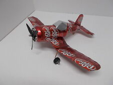Aluminum soda can handcrafted airplane/DR.PEPPER  (CORSAIR)