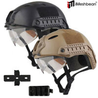 New Tactical Airsoft Paintball Military Protective SWAT Fast Helmet w/ Goggle