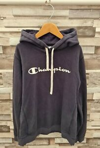 WOMENS NAVY BLUE VTG CHAMPION USA ATHLETIC SPORTS PETITE PULLOVER HOODIE JUMPER