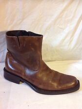 Men's Aldo Brown Ankle Leather Boots Size 42