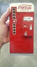 "1995 VINTAGE Collectible RARE Metal Coke Coca Cola PIGGY BANK Vending Machine 8"""