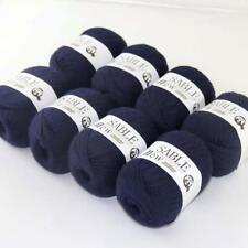 8Ballsx50g Pure Sable Cashmere Hand Knitwear Wool Shawls Soft Crochet Yarn 16