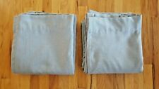 """THRESHOLD BLACK OUT BLUE LINEN ARUBA DRAPES - SET OF TW0 - 50"""" x 84"""" - PRE-OWNED"""