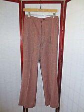 CAROLINA HERRERA RED BLACK Wool Houndstooth Dress Pants Sz 6