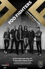 """FOO FIGHTERS """"CONCRETE & GOLD USA TOUR 2017"""" SALT LAKE CONCERT POSTER-Dave Grohl"""