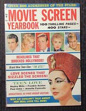 1962 MOVIE SCREEN YEARBOOK Magazine #9 VG+ 4.5 Elizabeth Taylor