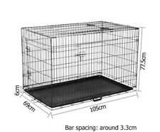 Extra LARGE Dog Crate Cage Pet Puppy tray Lightweight sturdy & easy to use NEW