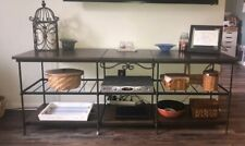 Longaberger Wrought Iron Tv Stand with Shelves