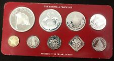Mixed Lot of Foreign Proof Sets with Silver Coins - Cook Islands, Guyana, others