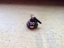 dust plug Pile Of Poo Emoji Handmade Cute Charm Stopper